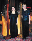 Northern California Harpists Stephanie Janowski and Heather Paschoal